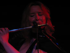 Photo image of smooth latin jazz flutist Stephanie James performing live at the Key Club in Hollywood California